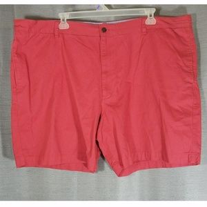 Chaps Big & Tall Burnt Red Flat Front Shorts NWOT